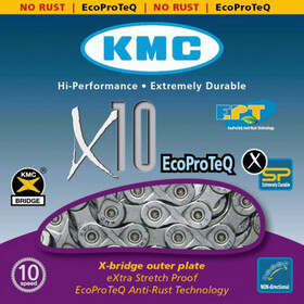 KMC X-10 EPT anti roest fietsketting 10-speed zilver